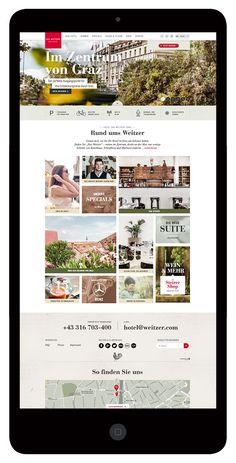 Das Weitzer - Digital by moodley brand identity, via Behance