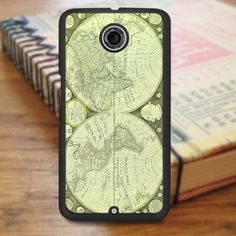 Green World Map Nexus 6 Case