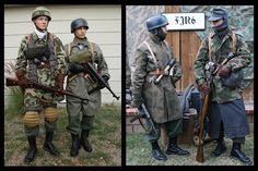 Fallschirmjager, soldiers in uniforms.