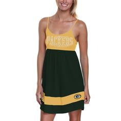d3acc22e3  47 Brand Green Bay Packers Ladies Debut Sundress - Gold Green
