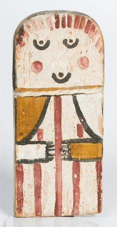 Hopi child's Kachina doll -- this is the traditional Kachina doll intended for Hopi children (not for resale) to learn to recognize the difference between the many Kachina figures.