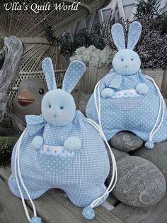 Ulla adlı Yorgan Dünya: Pamuk tavşan çantası, Japon patchwork