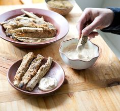 Recipe: Baked Za'atar Eggplant Fries with Lemon Tahini Dip — Recipes from The Kitchn