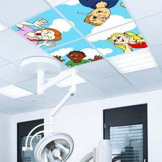 Een cartoon in opdracht getekend voor in een Ceiling66 plafond met LED-verlichting