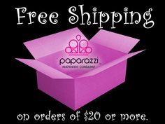free shipping on orders of $20 or more - Paparazzi jewelry
