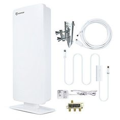 NEW! ANTOP 80 Miles Digital Amplified TV Antenna Outdoor/Attic/Roof wi...NO TAX #ANTOP