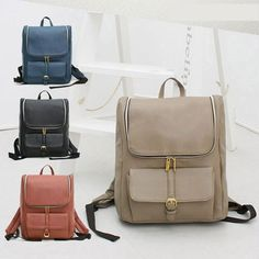 [WPOP] Women's Synthetic Leather Korean Backpack Bookbag_JENNY BP (4colors)
