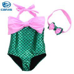72b80e62ec3a8 2 7Y Children Kid Baby Girls Swim Wear Cute Brand Little Mermaid One Piece  Costume Swimsuit Bathing Suit Swimwear New 2016-in Children's One-Piece  Suits ...