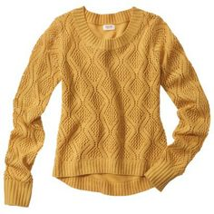 6) SWEATERS! I need lots of these I love this one from Target-Mossimo Supply Co. Juniors Pointelle High Low Sweater - Assorted Colors