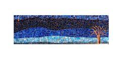 """""""Nocturne Mirage"""" glass mosaic by LaTenagliaImpazzita. Beautiful!"""