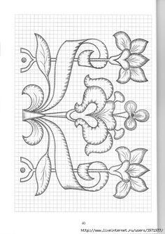Gallery.ru / Фото #142 - Рисунки для вышивки гладью, лентами и ришелье-3 - Vladikana