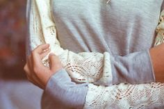 Lace sleeves for sweatshirts