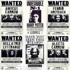 wanted posters I love how Sirius and Harry are different. It's like the people who made the posters didn't want to class them with the other criminals