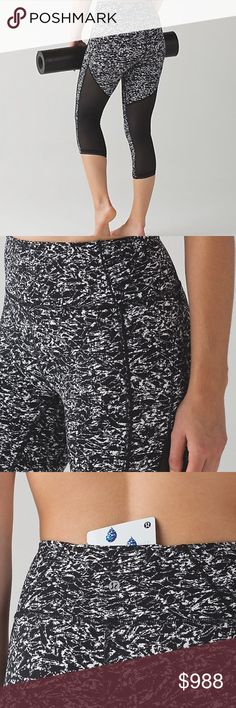 Lululemon Deep Breath Crop NWT/8 Lululemon Deep Breath Crop NWT/8 iced wave white black/black. ✅ALWAYS OPEN TO OFFERS-unless marked firm on price ✅OFFERS SHOULD BE MADE THROUGH POSH OFFER FEATURE ✅PRICES NOT DISCUSSED IN COMMENTS  ✅FEEL FREE TO ASK ANY QUESTIONS  ❎NO TRADES lululemon athletica Pants Ankle & Cropped