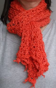 Lace Orange Scarf Crochet by AtelierRaniera on Etsy, $30.00  #motherday #giftforher #freeshipping #shoulderbag #bag