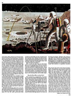 'Man on the Moon: The Exploration' #flickr #retro #1952 #space #illustration
