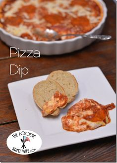 1/31- Pizza Dip from The Foodie Army Wife You can use turkey pepperoni and low fat cream cheese & sour cream.