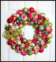 #vintage #ornament #wreath #Christmas