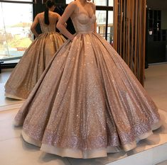 Spaghetti Straps Sparkly Open Back Long Ball Gown Prom Dresses Quinceanera Dresses Ball Gowns Prom, Prom Party Dresses, Quinceanera Dresses, Ball Dresses, Occasion Dresses, Quinceanera Party, Elegant Prom Dresses, Sweet 16 Dresses, Pretty Dresses