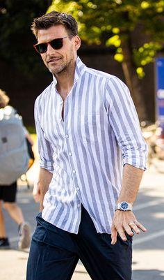 Giorgio Armani, Emporio Armani, Formal Men Outfit, Casual Outfits, Men Casual, Hugo Boss, Men Shirt, My Vibe, Boy Fashion