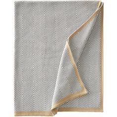 Woven Squares Outdoor Throw ($245) ❤ liked on Polyvore featuring home, outdoors, outdoor decor, outside garden decor, outdoor patio decor and outdoor garden decor