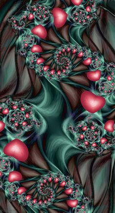 Love Grows by Shadoweddancer on deviantART ~ fractal art valentines