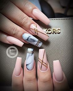 There are three kinds of fake nails which all come from the family of plastics. Acrylic nails are a liquid and powder mix. They are mixed in front of you and then they are brushed onto your nails and shaped. These nails are air dried. Marble Acrylic Nails, Best Acrylic Nails, Marble Nail Designs, Cute Nail Designs, Acrylic Nail Designs Coffin, Popular Nail Designs, Fall Nail Art Designs, Cute Nails, My Nails
