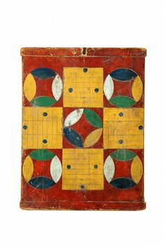 Parcheesi game, American, late 19th century, pine