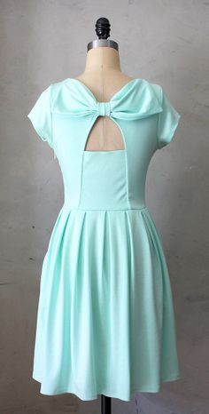 Mint bow dress