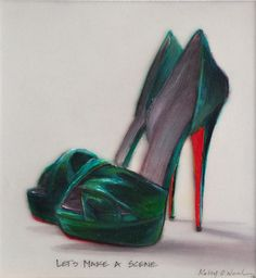 """Let's Make a Scene""  Kelly O'Neal  6.5"" x 6""  Oil on Plexi-glas  2012"