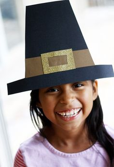 Pilgrim Hats for kids is an easy Thanksgiving craft. Follow our super simple tutorial.