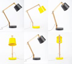 These minimalist, slightly retro — and dare-we-say cute – lamps come from New Zealand. They are the result of cooperation between veteran craftsman Douglas Snelling and his artist daughter Rebecca Snelling.