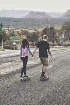 If both love longboarding then this would be a cute/cool part of the engagement photo session