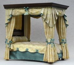 Pemberley Four Poster Bed | Reverie Miniatures