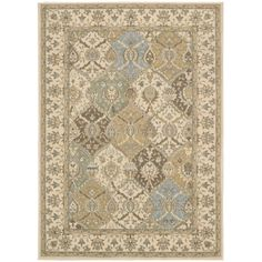 Nourison Modesto Beige Area Rug (5'3 x 7'3) | Overstock.com Shopping - The Best Deals on 5x8 - 6x9 Rugs