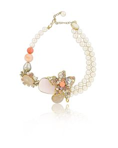 Philippe Ferrandis Coral Choker Necklace