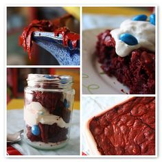 cakemix red velvet brownies with coconut milk by scrumdillydilly via flickr.