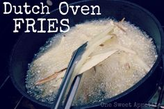 One Sweet Appetite: Camping Food: Dutch Oven Fries Camping Menu, Camping Grill, Camping Recipes, Camping Stuff, Camping Foods, Kayak Camping, Camping Cooking, Grilling, Oven French Fries