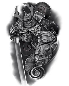Japanese Warrior Tattoo, Japanese Snake Tattoo, Japanese Dragon Tattoos, Japanese Tattoo Designs, Japanese Sleeve Tattoos, Samurai Tattoo Sleeve, Samurai Warrior Tattoo, Warrior Tattoos, Lion Tattoo Sleeves