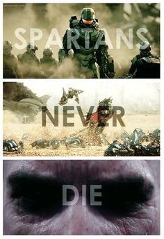 """Spartans never die. They're just missing in action. Halo Reach, Halo Quotes, Unsc Halo, Halo Tattoo, Halo Collection, Ultimate Collection, Halo Videos, Halo Spartan, Missing In Action"