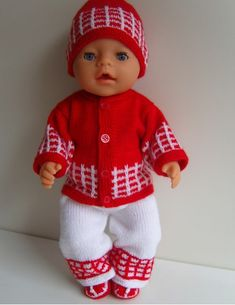 Free Crochet Doll Dress Patterns - Hobbies and Crafts World Knitting Dolls Clothes, Crochet Doll Clothes, Knitted Dolls, Doll Clothes Patterns, Baby Born Clothes, American Girl Clothes, Crochet Doll Dress, Crochet Doll Pattern, Boy Doll