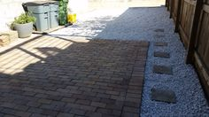 gravel parking pad and patio in Canton.