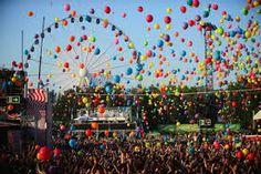 Sziget Festival Luftballons Spaß bunt Ungarn
