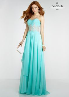 Long Strapless Ruched Beaded Ruffled Layered Chiffon Seabreeze Prom Dress