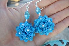Even earrings ....... Kusudama that is.
