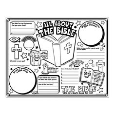 """Color Your Own """"All About the Bible"""" Posters - OrientalTrading.com- coloring contest? might be a cool competition item"""