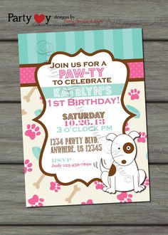 this lady actually had a party for her dogbut i think the, Birthday invitations