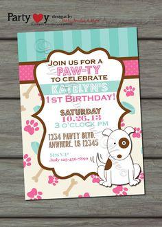puppybirthdayinvitationdogbirthdaybypartyinvitesandmore1000 - Dog Party Invitations