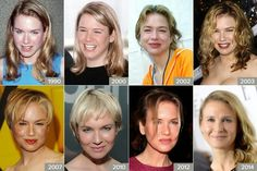 Nova aparência, Renee Zellweger de 1990 a 2014
