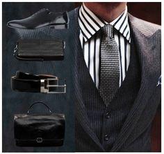Gentlemen's Corner #accessories #belt #wallet #shoes #suit #men #fashion Carlo Pazolini